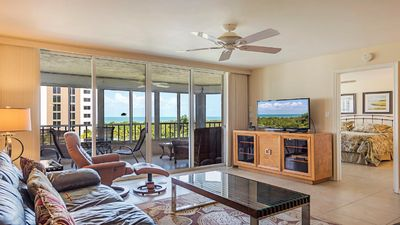 "Living Room overlooking Gulf of Mexico 55""TV"
