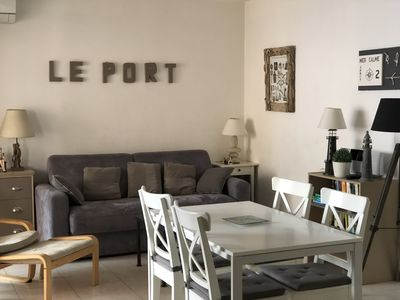 Photo for Charming apartment on port Vauban, near old town, parking, wifi