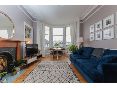 Photo for Spacious, Stylish 2BR Flat For 4 in Leith Walk