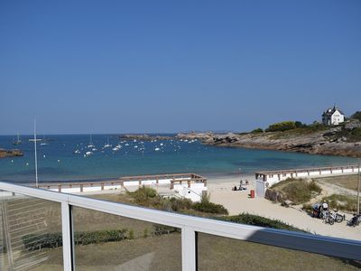 Photo for Apartment on the beach of the Greve Blanche prodigious view on the sea in Trégastel
