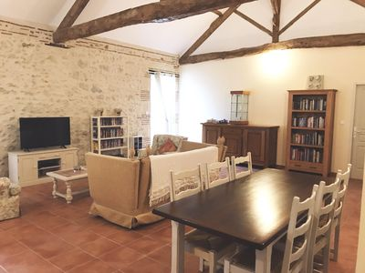 Photo for Renovated Stone Barn with Large Pool on Smallholding in Countryside