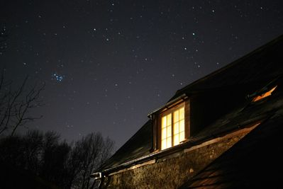 Chessell sky at night, photo courtesy of our first guests Russell & Pamela