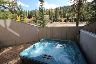 Private hot tub with spectacular view