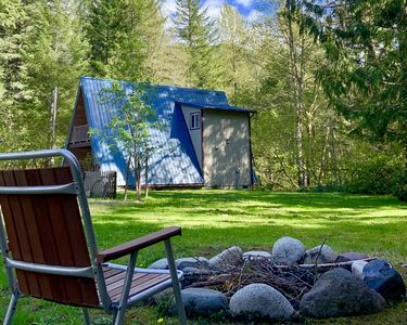 Photo for Betsy's Cabins at Mt Rainier-Cozy romantic A-Frame just for two w/gas fireplace!