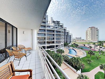 Balcony - Welcome to South Padre Island! This modern condo with Gulf views is professionally managed by TurnKey Vacation Rentals.