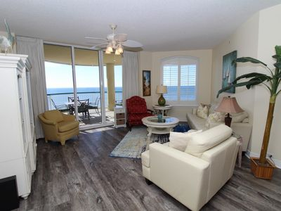 Photo for Beach Colony East 13C-Beach Front unit with large terrace & amazing view!