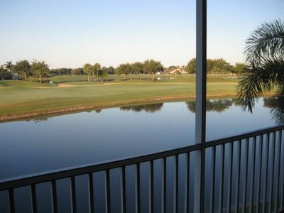 View from the Lanai - Multiple Fairways and Lakes - and the Evening Sunset!