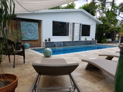 Photo for Stroll to Ave/Beaches- Studio #1 Bright & Airy, Beautiful Salt & Waterfall Pool