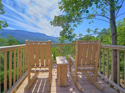 The view is spectacular - Mountain Perch is aptly named: From the master bedroom's balcony, the porch, the spacious grounds, and the great room you can look out at the majestic Smoky Mountains.