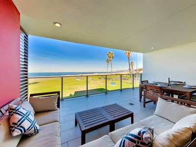 Photo for Modern Oceanfront Condo, Water Views, Steps to Beach + More