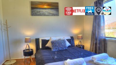 Photo for ⭐⭐⭐⭐⭐Wi-Fi, 4K Curve TV,  Netflix, Train, Electrical Bed,Parking, Train, Beach