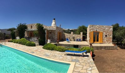 Photo for Beautiful house Paros stones with sea view and private pool