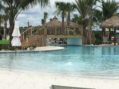Magnificent multiple pool complex with bridges.  All brand new !!