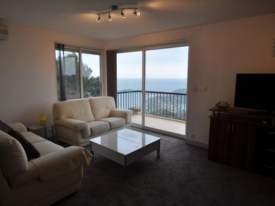 Photo for 3 bedroom apartment with sea view 180 ° Beaulieu and St Jean Cap Ferrat