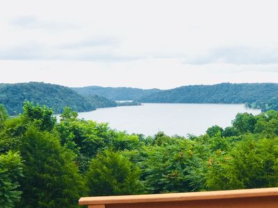 Photo for Serenity Has a Perfect Lake View, Hot Tub, 4 bedrooms & 3 bathrooms
