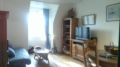 Photo for PROMO Sunny apartment 300m from the beach Saint-Malo intra muros