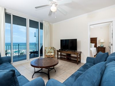 Photo for Beautiful gulf-front condo at Waterscape! Washer/dryer in-unit! 490 feet of pristine, private beach!