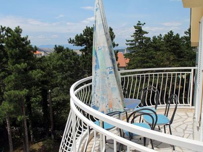 Photo for One bedroom apartment with terrace and sea view Jadranovo (Crikvenica)