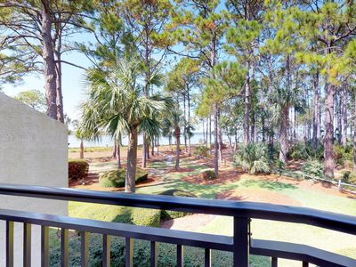 Photo for Beachfront condo with shared pool and a view of Calibogue Sound!