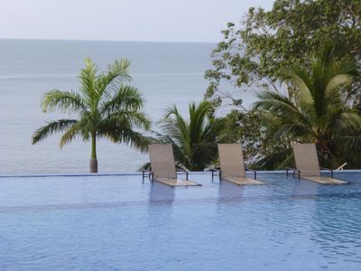 Infinity pool #1.  Our 3  pools are 200 feet from the  beach front and ocean.