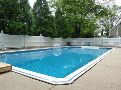 Photo for Walk to town, beach, perkins cove. PRIVATE POOL! Sleeps up to 11