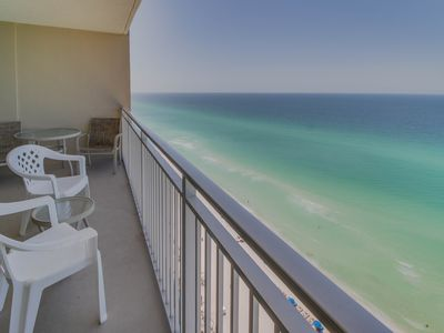 Photo for Oceanfront condo w/ shared pool & hot tub near Pier Park - snowbirds welcome!