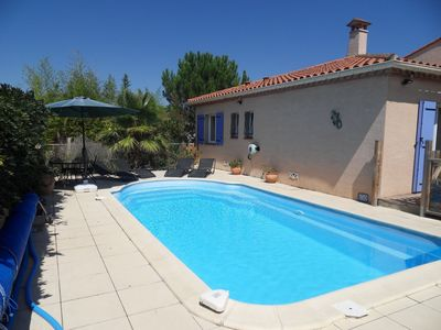 Photo for Nr Spanish border, Med & Pyrénées , charming 5* villa with private heated pool