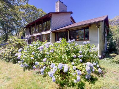 Photo for NEW LISTING! Mid-century home w/ deck, fireplace & huge windows - 1 dog OK!