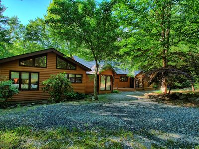 Photo for Wounded Fork - Riverside Cabin minutes from Hebron Falls, Hot Tub, Privacy