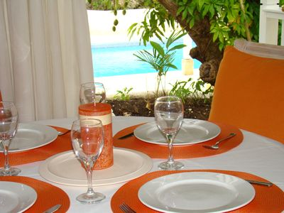 Photo for Villa with pool on the Barbados Riviera, walking distance to beach, spa and town