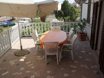 Photo for Three bedroom apartment with terrace Starigrad (Paklenica)