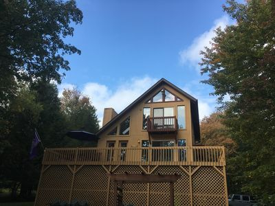 Photo for Lakefront Pocono Chalet.  Close to Rafting, Golf, Waterparks and Hiking.