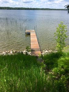 Private 40 ft long dock in approx. 3 ft of water. All planks replaced June 2018.