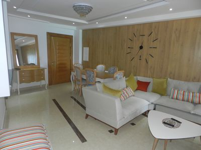 Photo for Very nice apartment at 20 m from the beach of 118 m2