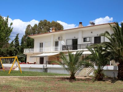Photo for Holiday house directly at the sea, large garden, wifi | Argolis, Peloponnese