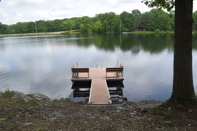 New  updated Dock. 8 ft deep at the end of dock, swim and fish.