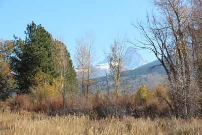 View of the Teton Mountains from the house