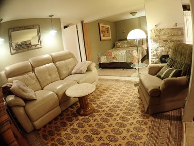 Photo for Cozy Cottage  w/ Hot Tub 3 miles from skier parking at Boyne.