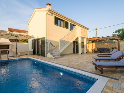 Photo for Brand new luxury villa Ivo, private pool, 3 bedrooms, table tennis, beach