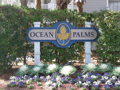 You have arrived at Ocean Palms when you see this sign!  Heaven awaits you!