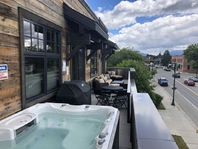 Photo for NEW BUILD! Luxury condo in the heart of Downtown Whitefish! Private Hot Tub!