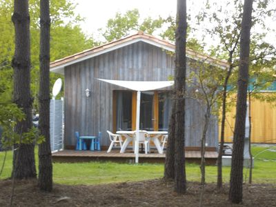 Photo for conditioned new wooden house ranked 3 stars.