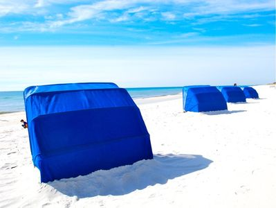 Personal shelters on Pensacola Beach