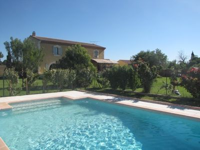 Photo for Bastide with swimming pool, garden, petanque, ping-pong, volleyball, jacuzzi, ap. sports.