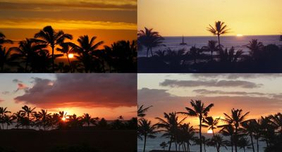 Sunset pictures taken from front lanai.