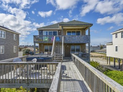 Photo for SWEET OCEANFRONT!! WITH 4 BEDROOMS, HOT TUB, DUNE-TOP DECK  AND DOG FRIENDLY!