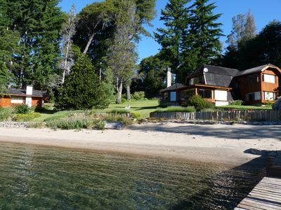 Photo for Lakefront Home with Sandy Beach and Dock