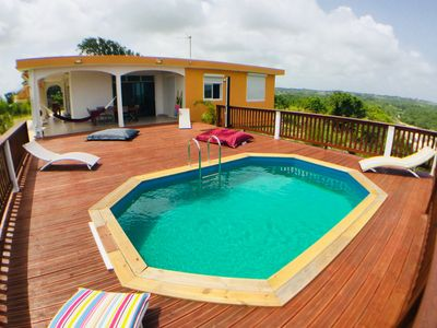 Photo for 3-star eco-friendly villa with sea views and private pool