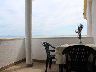Photo for Facing the sea, fantastic view, ideal for families, close to the sandy beach
