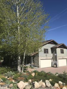 View from street and front of the home   1887 Hunters Dr Steamboat Springs, CO
